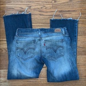 LEVI'S TOO SUPERLOW  524 frayed jeans 11 M